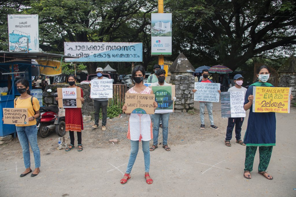 climate strikers in Kerala
