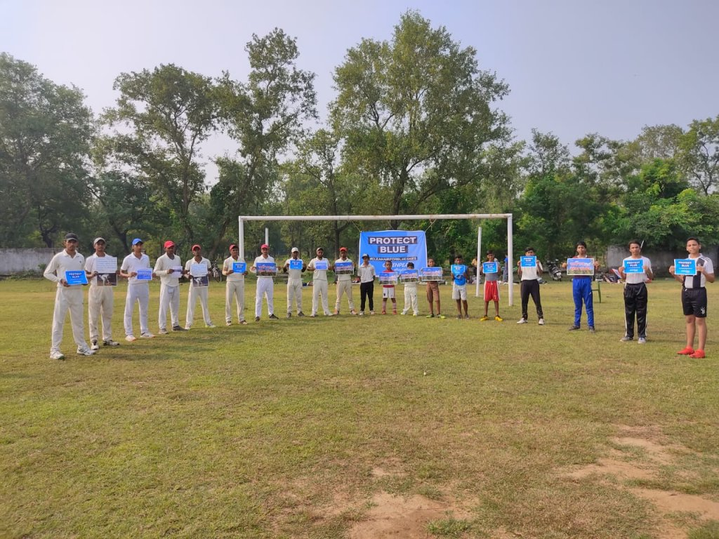 match was organized on the eve of the first International Day of Clean Air for blue skies