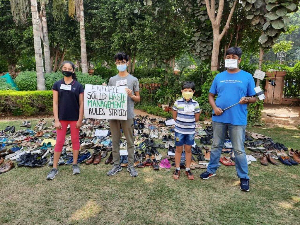 children on global climate strike