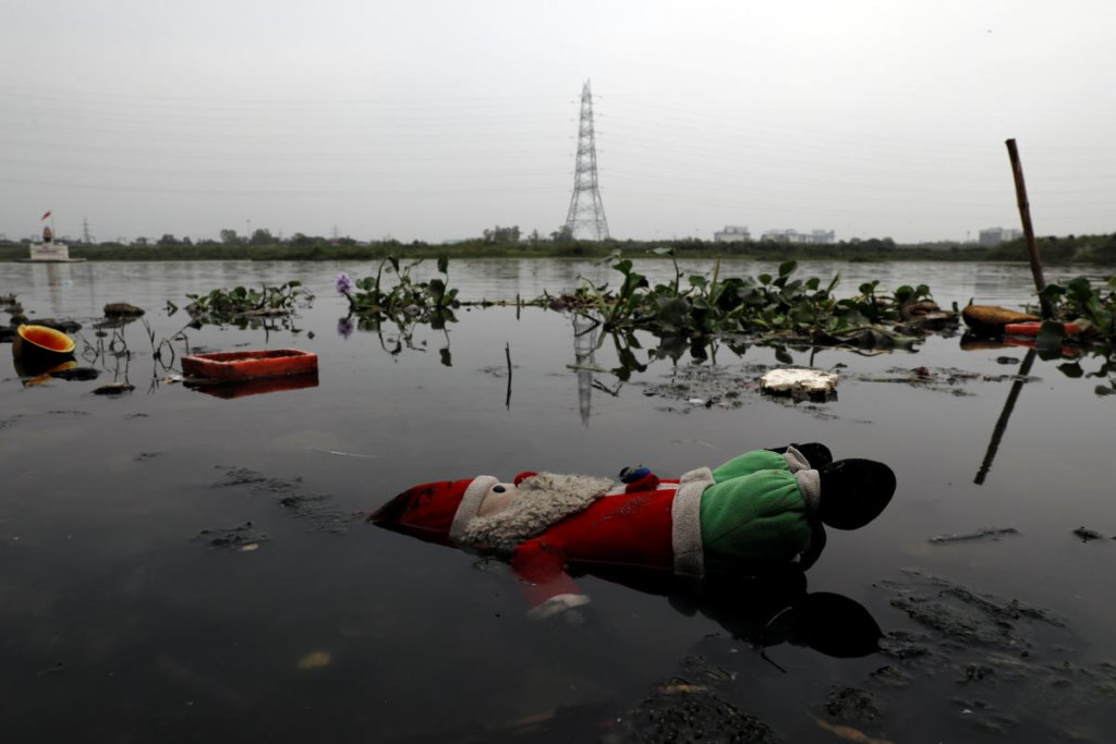 Yamuna flows polluted