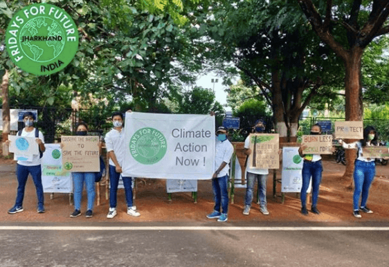 climate strikers in Jharkhand